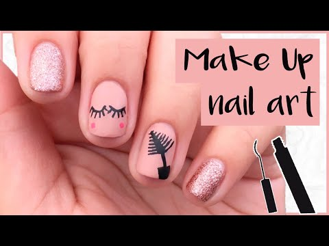 Nail art - Diseño de uñas de maquillaje  Make Up Nails  Paso a paso  adriferm