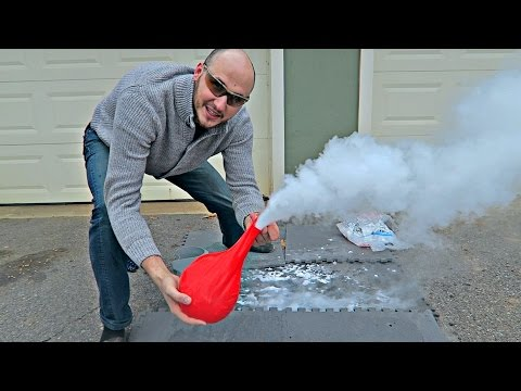 Putting Dry Ice in a Giant Balloon