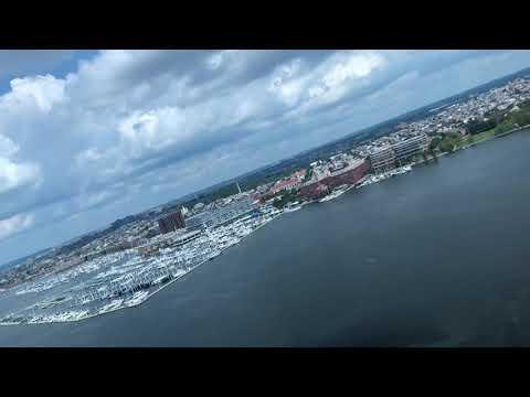 Landing at Pier 7 in Baltimore in an Agusta 109C...