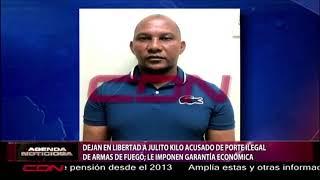 """Dejan en libertad a """"Julio Kilo"""" acusado de porte ilegal de armas, le imponen garantía económica"""