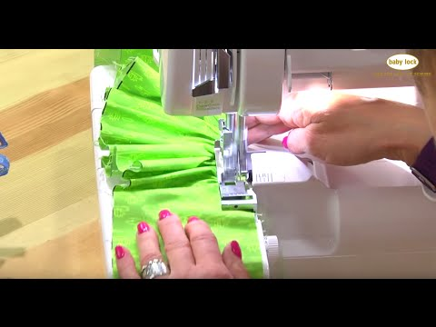 How to Use a Serger Ruffling Foot