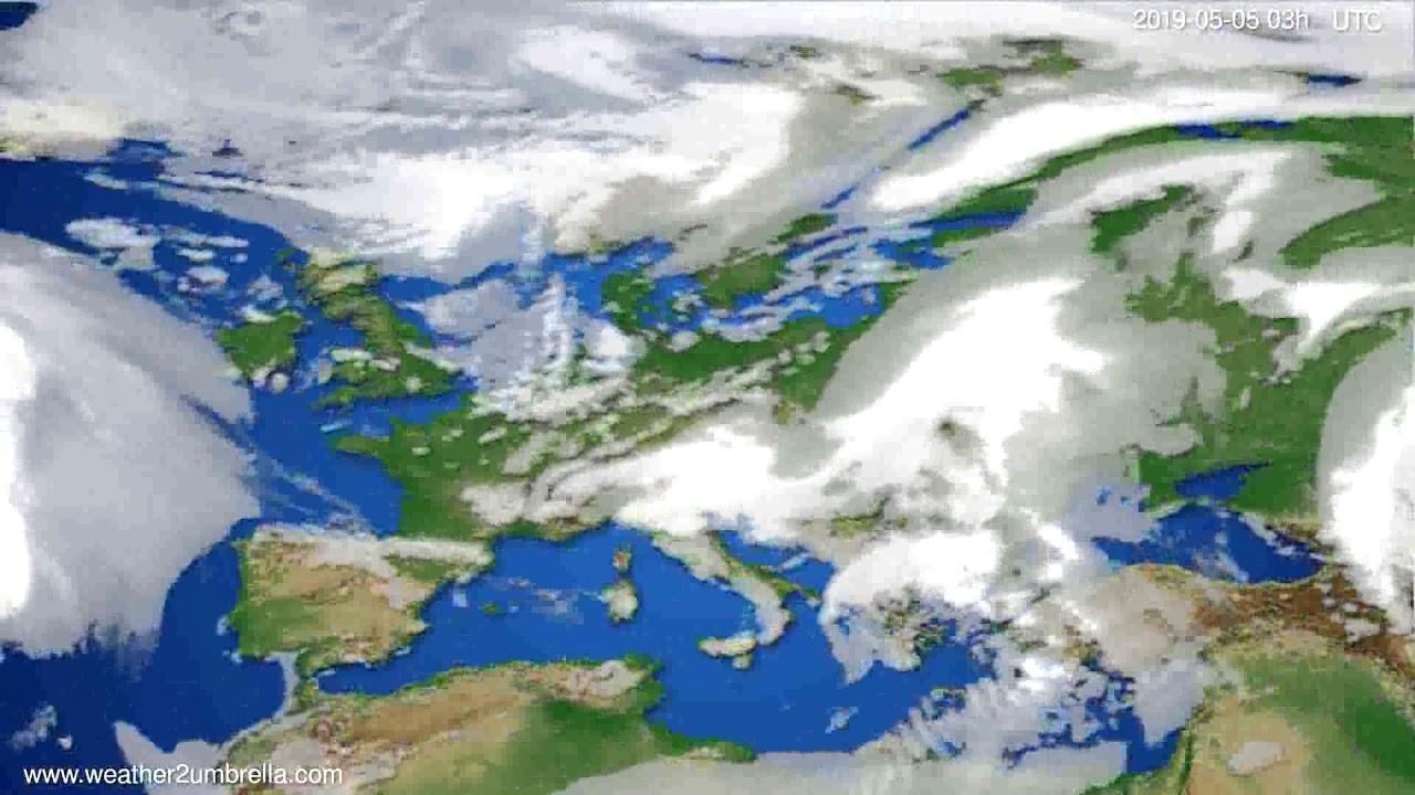 Cloud forecast Europe // modelrun: 00h UTC 2019-05-02