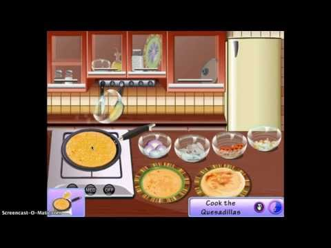 Gaming With Jojo: Sara's Cooking Class: Quesadilla