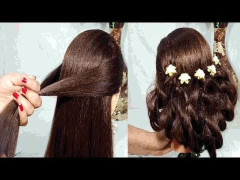 Easy Party hairstyle 2019 for girls  Hairstyles for long hair  simple hairstyle  hairstyles