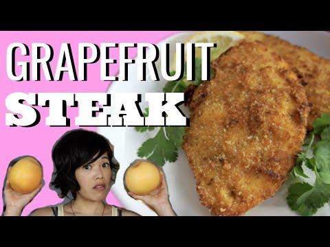 GRAPEFRUIT PEEL STEAK Bistec de Toronja   HARD TIMES - recipes from times of food scarcity