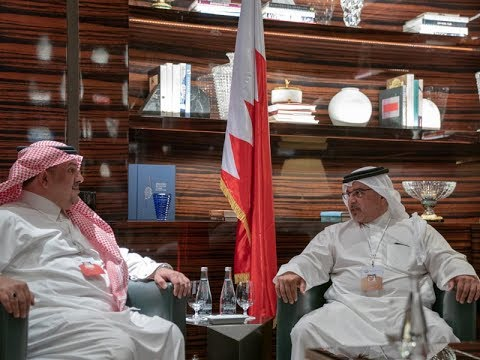 HRH the Crown Prince meets with the Kingdom of Saudi Arabia's Minister of State, and the Minister of Finance