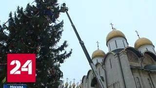 На Соборной площади нарядили главную ёлку страны