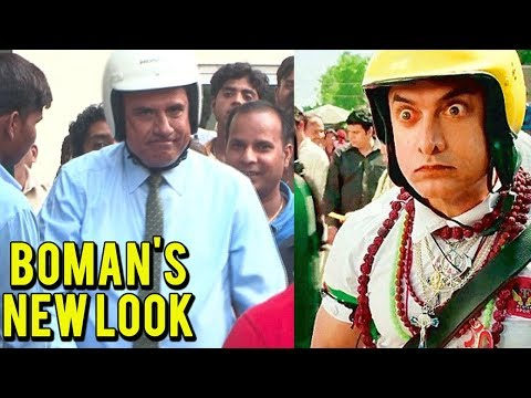 Boman Irani's Aamir Khan PK Look On Shoot Set