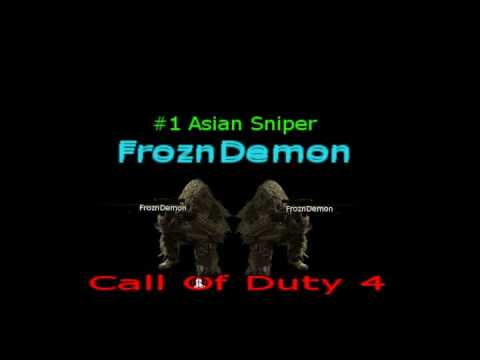 FroznDemon - ya my fren renegadescopez made this for me so uh yeah.. if u like call of duty 4 a lot and u would like a background like mine, go subscribe him and ask him ...