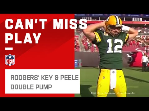 Aaron Rodgers' Key & Peele Double Pump Celebration on Called Back TD