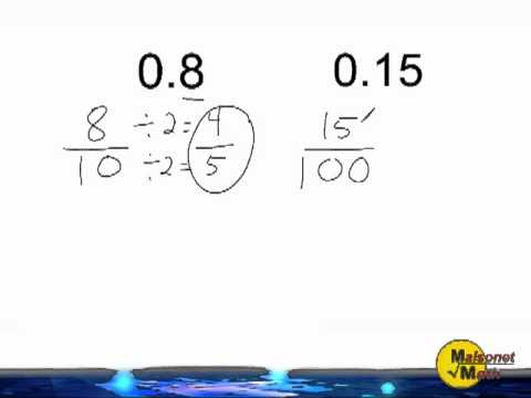 how to turn equivalent fractions into decimals