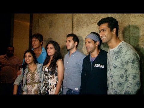 Farhan Akhtar , Ritesh Sidhwani At Special Screening Of Film Masaan