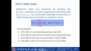 Umh1263 2012-13 Lec008. Números índice. Introducción Y Conceptos Básicos