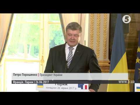 Порошенко обговорив з Макроном ситуацію на Донбасі та в окупованому Криму (видео)