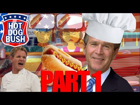 Hot Dog Bush: Farting Ketchup~(P1)[Classic George Bush Flash Game Gameplay]