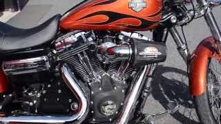 8. 2011 Harley-Davidson FXDWG Dyna Wide Glide in Sedona Orange w/flames
