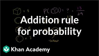 Addition rule for probability | Probability and Statistics | Khan Academy