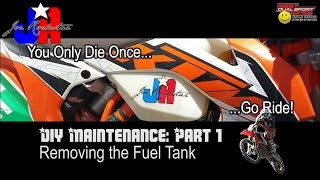 8. KTM 500 EXC Maintenance Pt 1 Removing the Fuel Tank