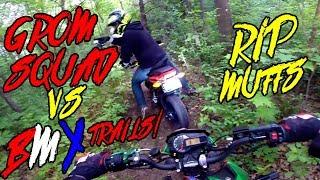 Grom Squad Vs. BMX Trails Off Road!