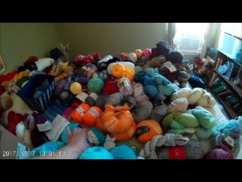Katrina's Creations #51: Yarn Stash & Craft Room Tour