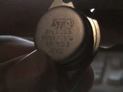 2N3055 - A 2n3055 transistor used in power supply's. I buyed that transistor to make a flyback transformer circuit. Please thumbs up, this video is high quality, but ...