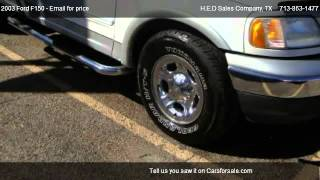 2003 Ford F150 Lariat SuperCrew 2WD - for sale in Houston, TX 77008