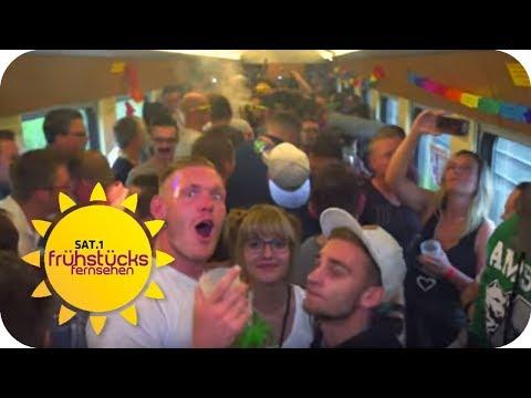 PARTY TRAIN: Das Flirtparadies | SAT.1 Frühstücksfernsehen | TV