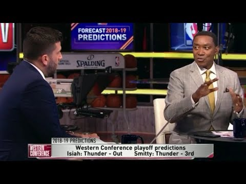 Isiah Thomas: Cavs & OKC Thunder will not qualify for the Playoffs   NBA Predictions 2018