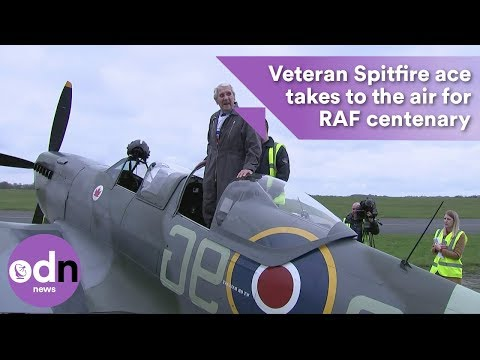 Video Veteran Spitfire ace takes to the air for RAF centenary download in MP3, 3GP, MP4, WEBM, AVI, FLV January 2017