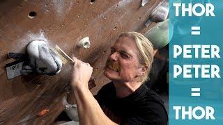 Face Swap - Thor Climbing As Peter - Peter Brushing As Thor by Eric Karlsson Bouldering