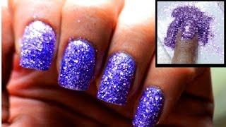 Powder Glitter Nails - Cute Glitter Polish Designs Sparkle Beginners Short Long Nail Art Tutorial