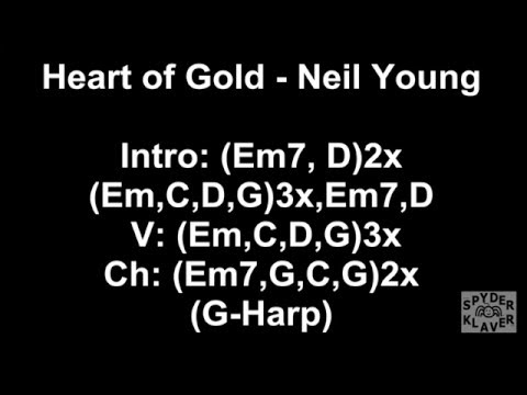 Heart of Gold - Neil Young - Lyrics - Chords