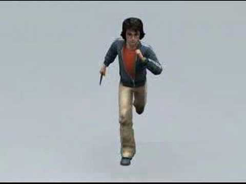 3d Run cyle animation