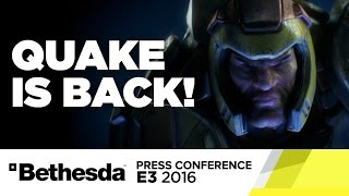 Quake Reveal Stage Show - Bethesda Press Conference E3 2016 by GameSpot