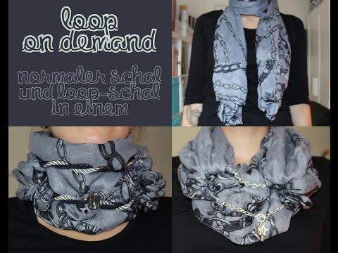 DIY Tutorial – Loop on demand nähen – normaler Schal und Loop-Schal in einem (aus einem Tuch genäht)