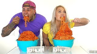 EXTREME SPICY NOODLE CHALLENGE!!! $1,000 CASH BET!!! **HOTTEST NOODLES IN THE WORLD!!!!**
