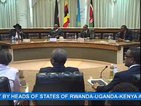 South sudan - President Kagame today hosted the Integration Projects Summit which was attended by President Museveni of Uganda, President Kenyatta of Kenya, and President ...