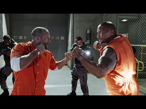 """""""FAST & FURIOUS 8""""-Prison escape scene-Detective Hobbs & Shaw one on one.HD clip."""