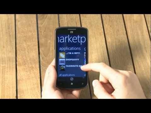 ZTE Tania Windows Phone 7.5 Mango smartphone Review