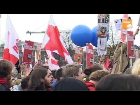 Protesteren tegen nieuwe leenstelsel