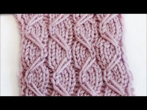 Strickmuster mit Zugmaschen – Knitting Pattern with Slipped Stitches – Ranken auf Streifen