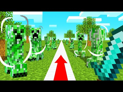 You Can ONLY WALK In A STRAIGHT LINE In MINECRAFT!