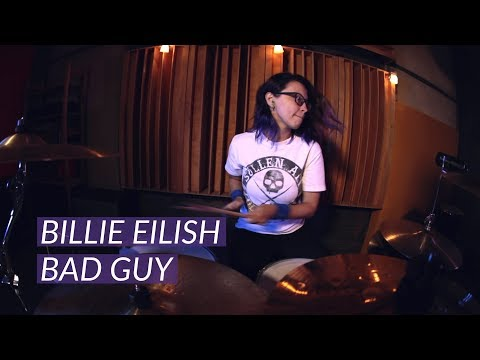 Billie Eilish - bad guy (drum cover by Helen Petrash)