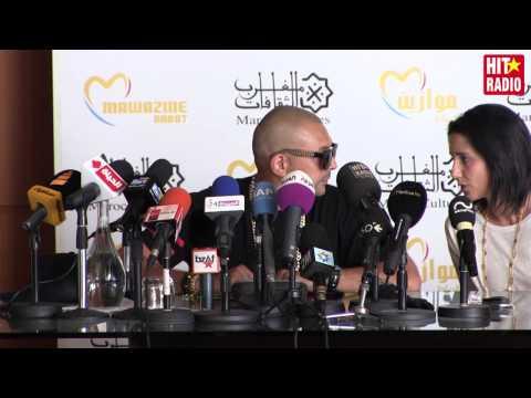 Conférence de presse avec Sean Paul à Mawazine 2015 sur HIT RADIO