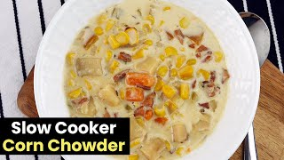 In this video, I go through the steps to making a creamy slow cooker corn chowder. It's the perfect comfort dish for both the winter...