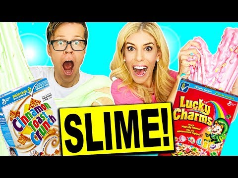 Lucky Charms Slime vs Cinnamon Toast Crunch Slime Challenge!!