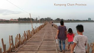 Kampong Cham Cambodia  city photos gallery : Bamboo Bridge at Kampong Cham Province in Cambodia