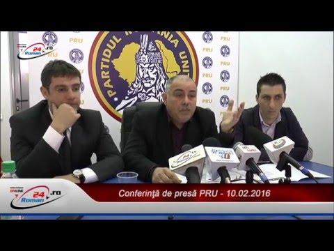 Conferinţă de presă PRU - 10.02.2016