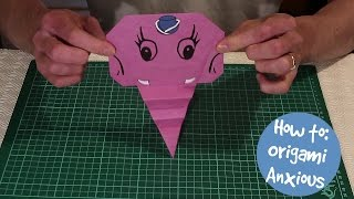 How to make an origami Anxious
