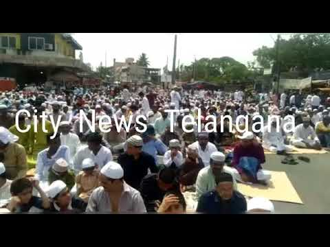 Namaz Eid-ul-Fitr at Eidgah  miralam .Hyderabad || 2019